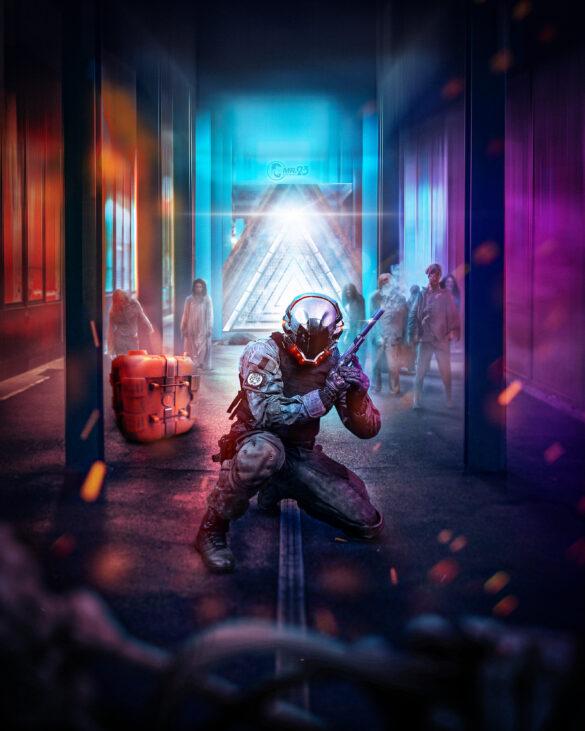 Cyberpunk Soldier - Mr23 Photo Manipulation