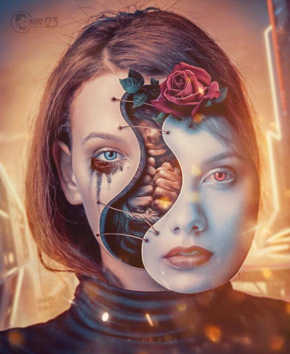 Trapped inside - photo manipulation